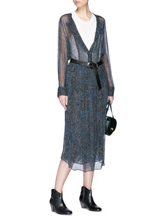 Isabel Marant Étoile 'Baphir' graphic print silk crepe tunic dress