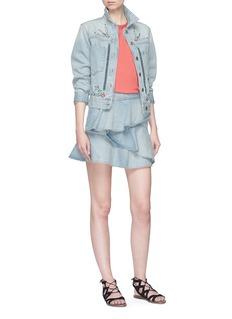 Isabel Marant Étoile 'Dati' tiered ruffle mini denim skirt