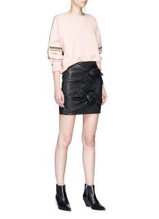 Isabel Marant Étoile 'Gritanny' twist bow leather mini skirt
