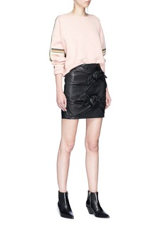 Isabel Marant Étoile 'Kao' stripe sleeve cropped sweater