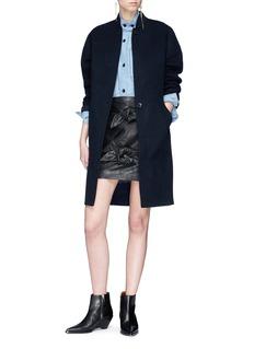 Isabel Marant Étoile 'Louise' mandarin collar chambray shirt