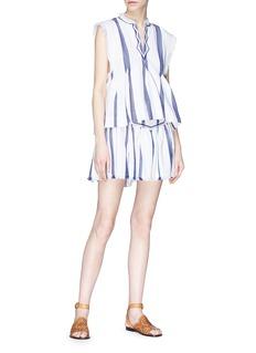 Isabel Marant Étoile 'Delia' stripe peplum mini skirt