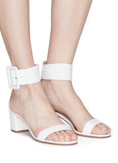 Aquazzura 'Casablanca 50' buckled strap leather sandals