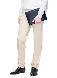 SAINT LAURENT Calfskin leather tablet holder