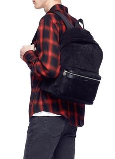 SAINT LAURENT 'City' suede backpack
