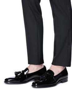 SAINT LAURENT 'Montaigne 25' tassel patent leather loafers
