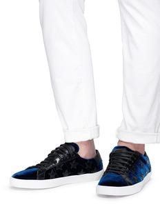 SAINT LAURENT 'Court Classic' star patch velvet sneakers
