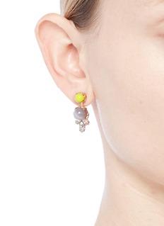 Anton Heunis 'Amy 3.03' Swarovski crystal agate drop earrings