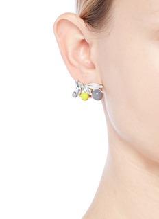 Anton Heunis 'Amy 3.04' Swarovski crystal agate floral stud earrings