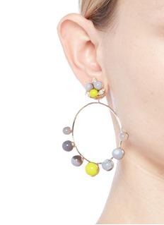 Anton Heunis 'Amy 3.09' Swarovski crystal agate detachable hoop earrings