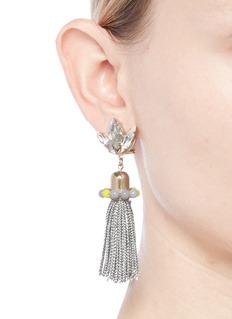 Anton Heunis 'Amy 3.05' Swarovski crystal agate tassel earrings