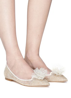 Jimmy Choo 'Estelle' embellished floral lace flats