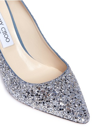 Detail View - Click To Enlarge - Jimmy Choo - 'Romy 85' dégradé glitter pumps