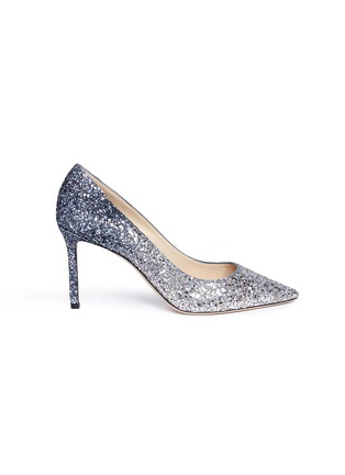 Main View - Click To Enlarge - Jimmy Choo - 'Romy 85' dégradé glitter pumps