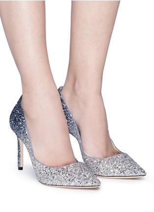 Figure View - Click To Enlarge - Jimmy Choo - 'Romy 85' dégradé glitter pumps
