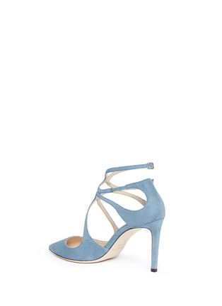 Detail View - Click To Enlarge - Jimmy Choo - 'Lancer 85' strappy suede pumps
