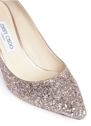Detail View - Click To Enlarge - Jimmy Choo - 'Romy 60' coarse glitter pumps