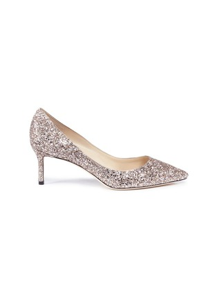 Main View - Click To Enlarge - Jimmy Choo - 'Romy 60' coarse glitter pumps