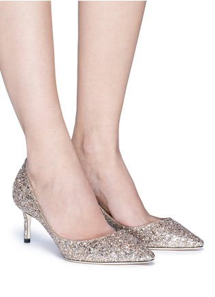 Figure View - Click To Enlarge - Jimmy Choo - 'Romy 60' coarse glitter pumps