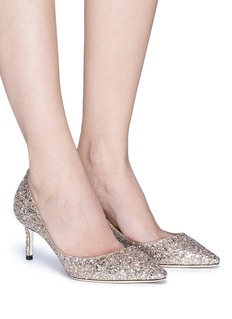 Jimmy Choo 'Romy 60' coarse glitter pumps
