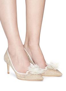 JIMMY CHOO Estelle 65花卉点缀蕾丝高跟鞋