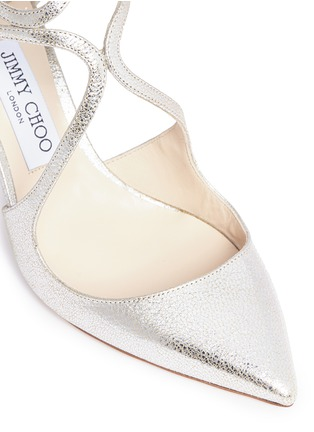Detail View - Click To Enlarge - Jimmy Choo - 'Lancer 85' metallic leather pumps