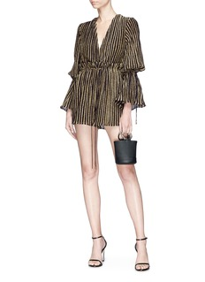 C/Meo Collective  'City Lights' stripe metallic playsuit