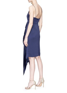 C/Meo Collective  'Waiting for You' asymmetric ruffle satin dress