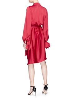 C/Meo Collective  'Influential' belted satin wrap dress