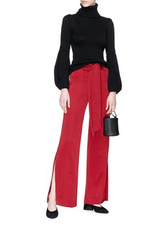 C/Meo Collective  'Fatal Lines' belted satin pants