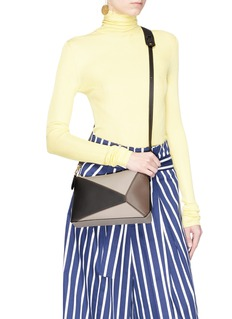 Loewe 'Puzzle' mini colourblock calfskin leather bag