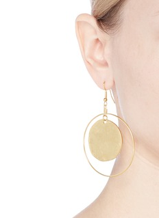Kenneth Jay Lane Hammered coin hoop earrings