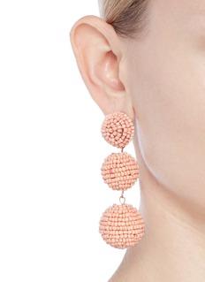 Kenneth Jay Lane Beaded sphere drop earrings