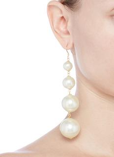 Kenneth Jay Lane Glass pearl drop earrings