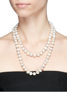 Kenneth Jay Lane Baroque freshwater pearl necklace