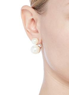 Kenneth Jay Lane Detachable glass pearl drop earrings
