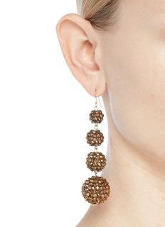 Kenneth Jay Lane Glass crystal sphere drop earrings