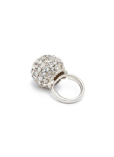 Kenneth Jay Lane Glass crystal sphere ring