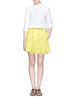 VALENTINOGuipure lace skater skirt