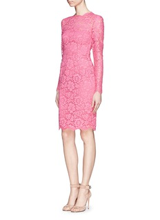 VALENTINOGuipure lace bow back dress
