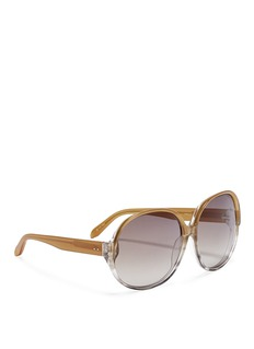 LINDA FARROW Ombré slim oversized acetate sunglasses