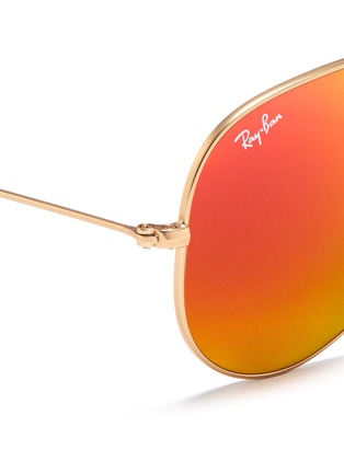 Detail View - Click To Enlarge - Ray-Ban - 'Aviator Large Metal' mirror sunglasses