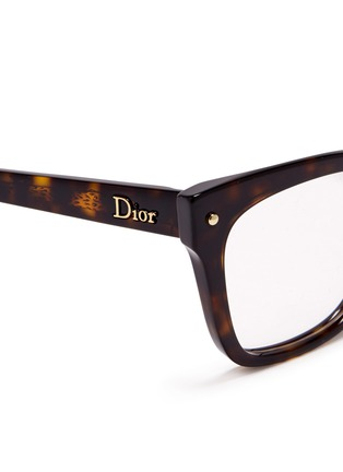 Detail View - Click To Enlarge - Dior - Tortoiseshell squared cat eye optical glasses