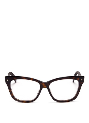 Main View - Click To Enlarge - Dior - Tortoiseshell squared cat eye optical glasses