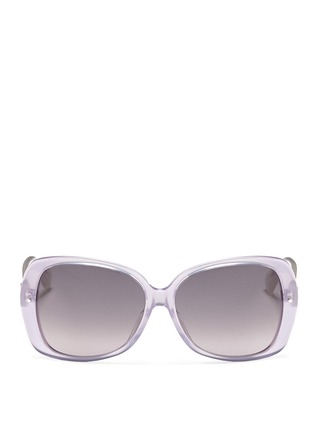 Main View - Click To Enlarge - Dior - Oversize tortoiseshell sunglasses