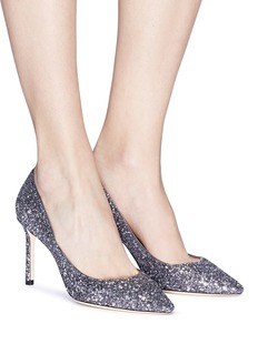 Jimmy Choo 'Romy 85' star coarse glitter pumps