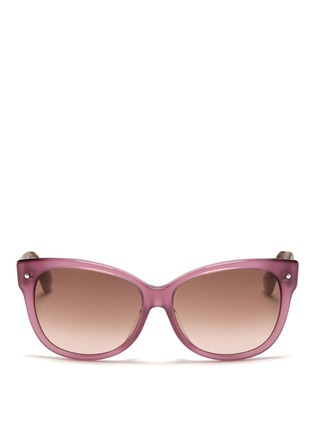 Main View - Click To Enlarge - Dior - Squared cat eye plastic frame sunglasses