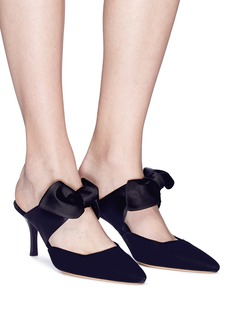 The Row 'Coco 75' satin ribbon velvet mules
