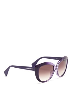 ALEXANDER MCQUEENBurnout round cat eye sunglasses