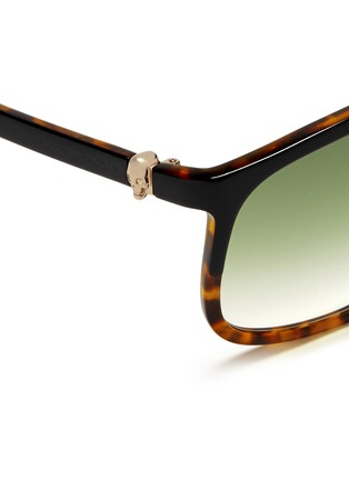 Detail View - Click To Enlarge - Alexander McQueen - Skull oversized square tortoiseshell sunglasses